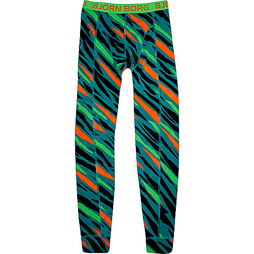 Teal animal print Bjorn Borg pyjama bottoms