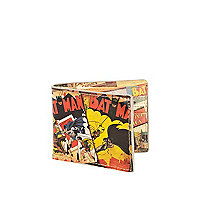 Red Batman comic print wallet