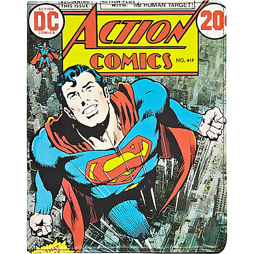 Superman comic print iPad case