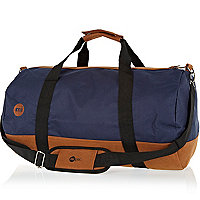 Navy MiPac contrast trim duffle bag