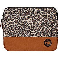 Brown MiPac leopard print iPad case