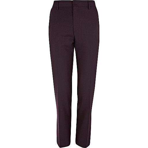 Berry slim suit trousers