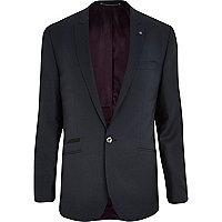 Dark teal slim suit jacket
