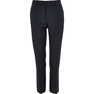 Dark teal slim suit trousers