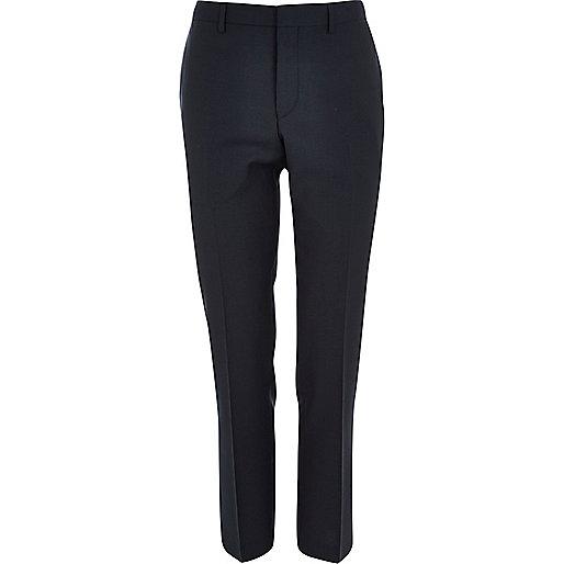Dark teal slim suit pants