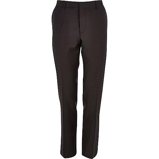 Purple slim suit pants