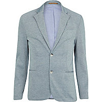 Light blue jersey blazer