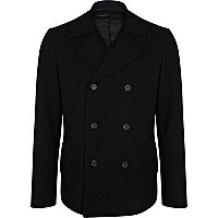 Navy blue smart pea coat