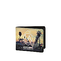 Black LA sunset print wallet