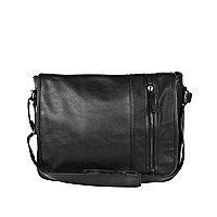 Black flap over bag