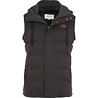 Grey padded casual gilet