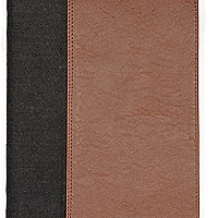 Grey melton two-tone iPad case