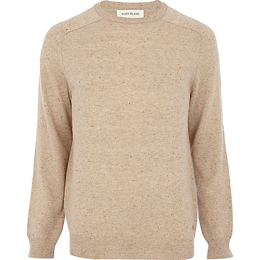 Ecru neppy raglan sleeve jumper