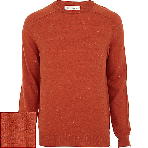 Orange neppy raglan sleeve jumper