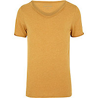 Orange low scoop t-shirt