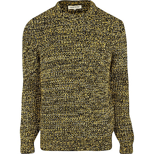 Mustard twist knit jumper