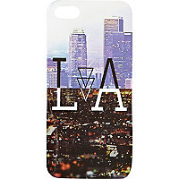 Blue LA print iPhone 5 case