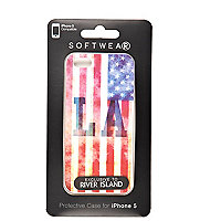 Blue LA flag print iPhone 5 case