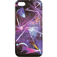 Blue galaxy laser print iPhone 5 case