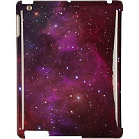 Purple cosmic print iPad case
