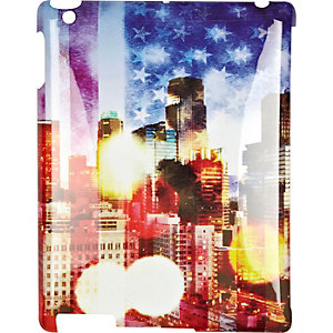 Red American flag print iPad case