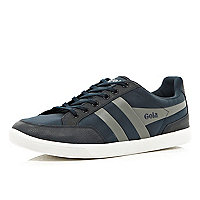 Navy Gola contrast panel low trainers