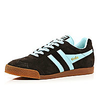 Brown Gola two-tone low trainers