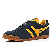 Navy Gola two-tone low trainers