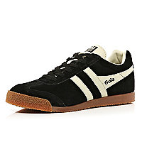 Black Gola two-tone low trainers