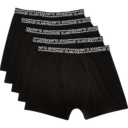 Black contrast trim boxer shorts pack