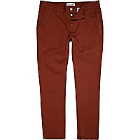 Brown skinny stretch chinos