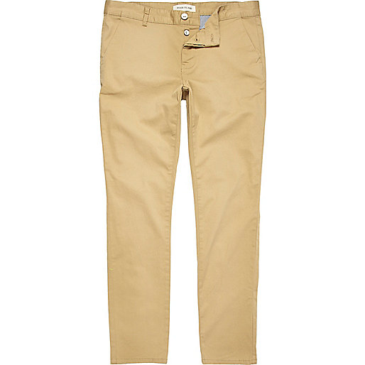 Light beige skinny stretch chinos