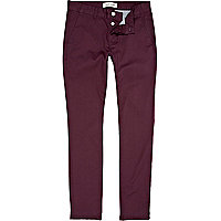 Purple skinny stretch chinos