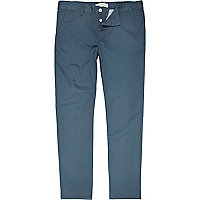 Teal skinny stretch chinos