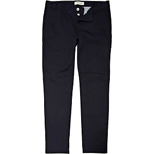 Navy skinny stretch chinos