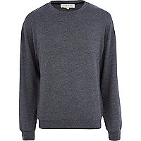 Dark grey textured sweatshirt