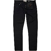 Black coated Ethan skinny tapered jeans