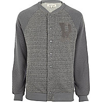 Grey R baseball jacket