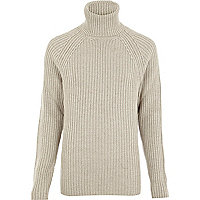 Light grey T. Lipop turtle neck rib jumper