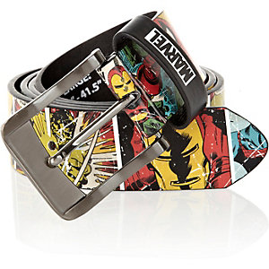 Red Marvel comic print belt