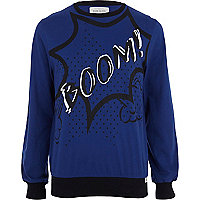 Blue boom sweatshirt