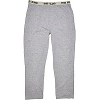 Grey jersey lounge trousers