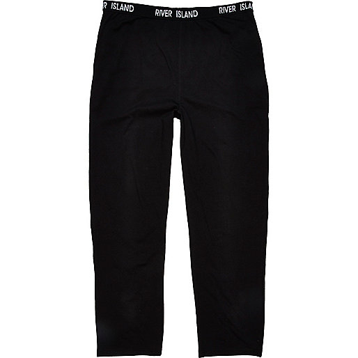 Black jersey lounge trousers