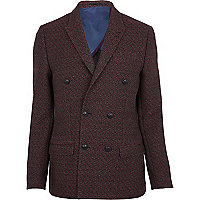 Dark red diamond blazer