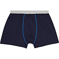 Navy contrast trim boxer shorts