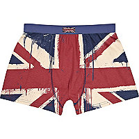 Red union jack boxer shorts