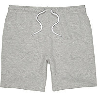 Grey jersey casual shorts