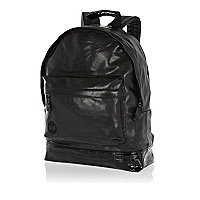 Black mock croc base MiPac rucksack