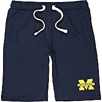 Navy American Freshman sweat shorts