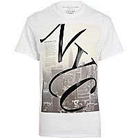 White NYC city print t-shirt